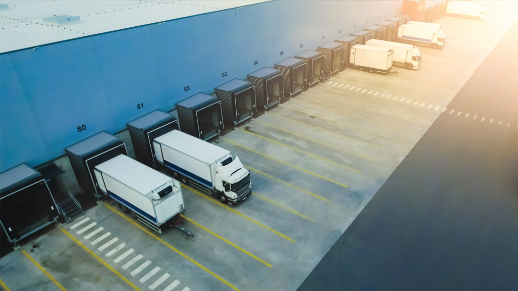 Delivery Warehouse Lorries Trucks